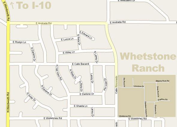 Vail Arizona Map.Whetstone Ranch Neighborhood In Vail Arizona Maps And Information